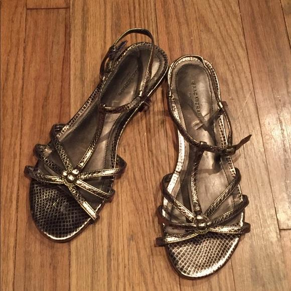 5c4381e02cfc Isaac Mizrahi Shoes - Isaac Mizrahi for Target Bronze flat sandals