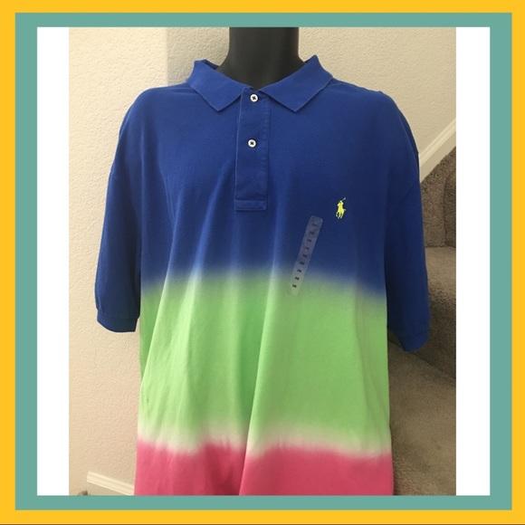 048b6c6fdb Polo Ralph Lauren Tie Dye Classic Mesh 2XB Shirt NWT