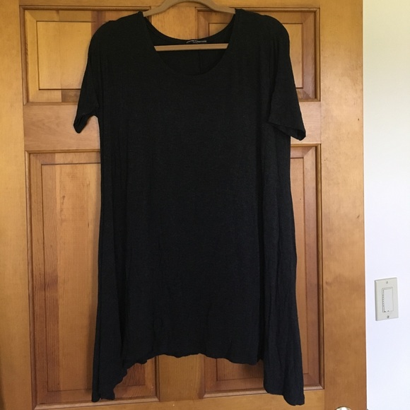 Brandy melville dresses skirts dark grey brandy for Dark grey shirt dress
