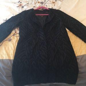 Black Dana Buchanan jacket with a tribal print