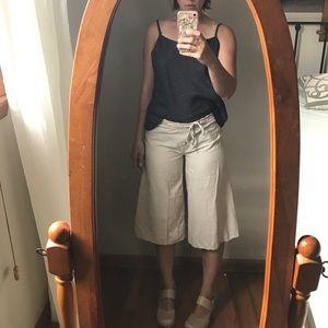 Pants - VINTAGE linen lagenlook gaucho pants Sherry Taylor