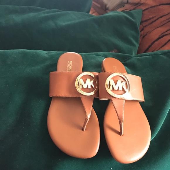 0d797d38e490 Michael Kors Raquel Logo Slide Sandals New