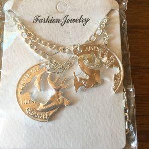 Couples deer/buck necklace set!