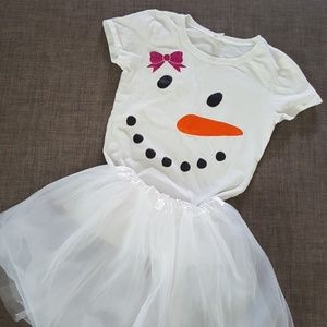 Other - Girl's snowman tutu tshirt outfit