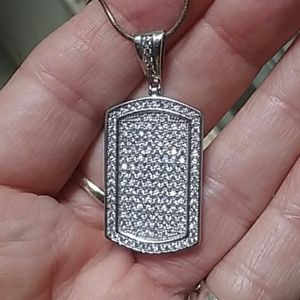 Jewelry - dog tag style pendant and chain