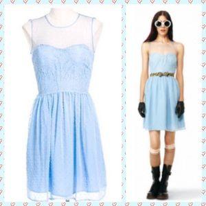 Rodarte for Target Sky Blue Swiss Dot Dress