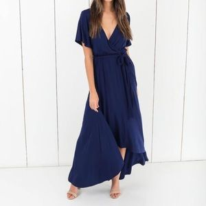 NWT Vici Collection Navy Maxi Dress