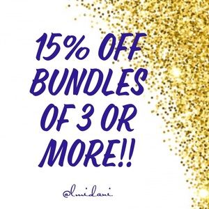 💥Now Offering 15% OFF Bundles of 3 or more!!💥