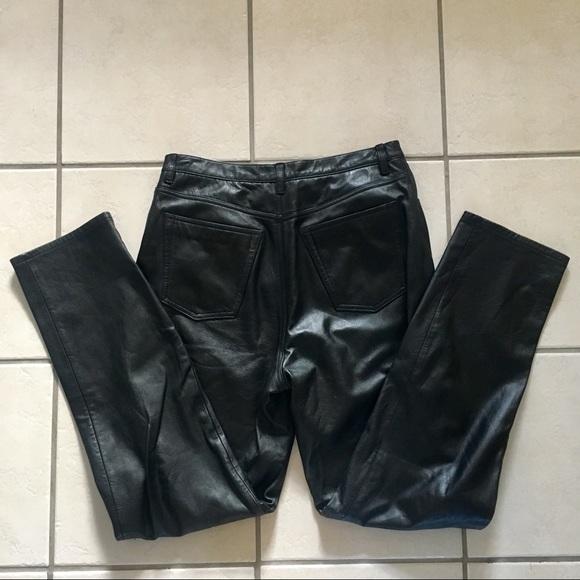 08804f90bffc06 Jones New York Pants - Vintage Jones New York Sport Black Leather Pants