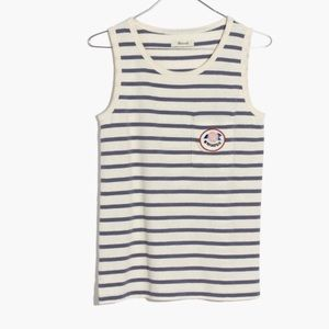 Madewell Striped Hiatus Tank Top, NWT