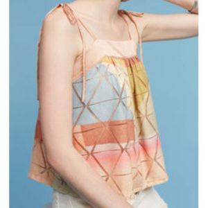 Anthropologie Akemi + Kin Geo Print Tie Shoulder