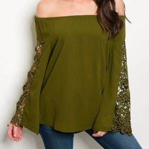 OLIVE GREEN top
