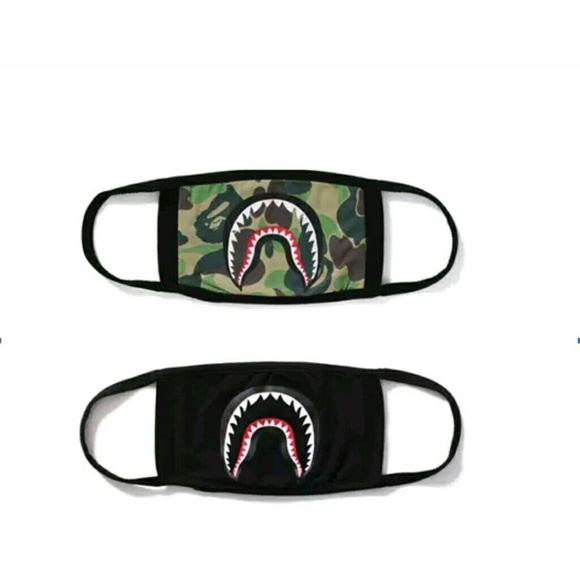 Bape Shark Logo Face Mask