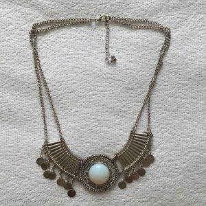 Sliver Necklace with detailing
