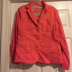 Eddie Bauer coral jacket, P6. NWOT