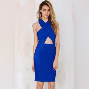 Crossed Cutout Open Back Dress