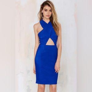 Crossed Cutout Dress