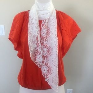 White lace scarf Halloween