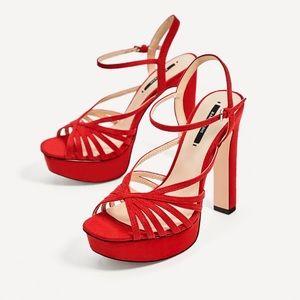 ZARA Strappy Platform Sandals