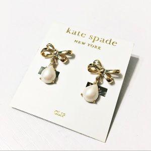 Kate Spade Jewelry New Tied Up Clip Earrings Poshmark