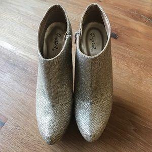 Sparkle platform heels
