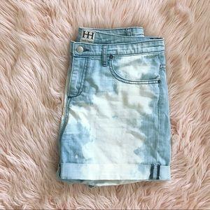 Haute Hippie Cloud Washed Denim Shorts