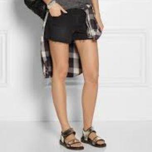J Brand Black Cutoff Jean Shorts