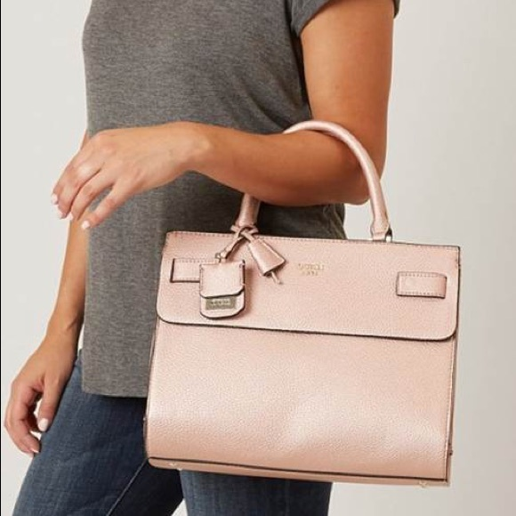 ad41f39492 Guess rose gold cate purse