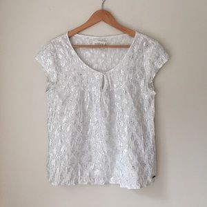 Abercrombie & Fitch Silver Metallic Top
