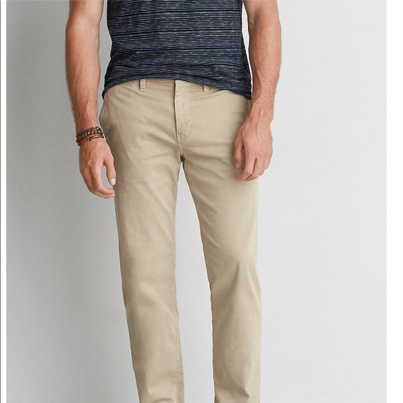 67caf3ecdf5 American Eagle Outfitters Other - AEO Extreme Flex Slim Straight Chino Khaki  Pants