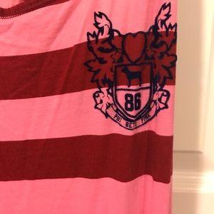 8d66c887eb PINK Victoria s Secret Intimates   Sleepwear - VS pink rugby stripe  nightgown dress size small