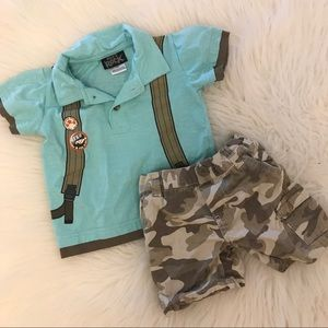 Special Forces Pack Polo & Camo Shorts 18M