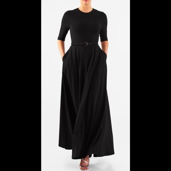 be224693524 eshakti Dresses   Skirts - New Eshakti Fit   Flare Maxi Dress 16W