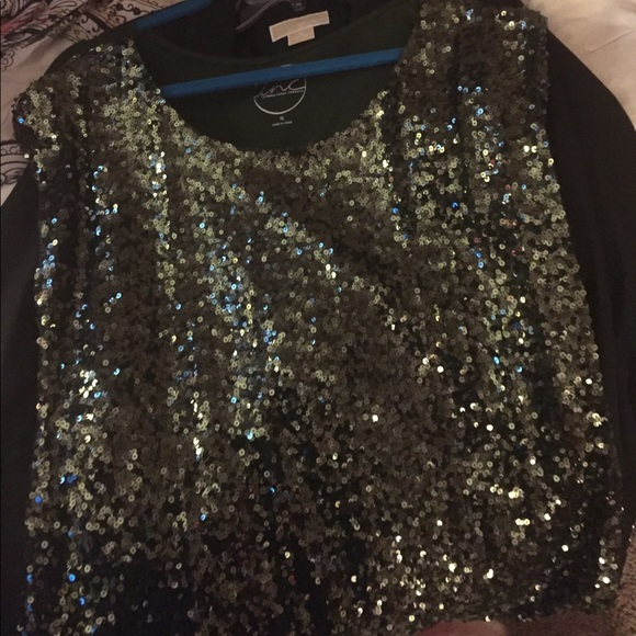 INC International Concepts Tops - INC green sequined top