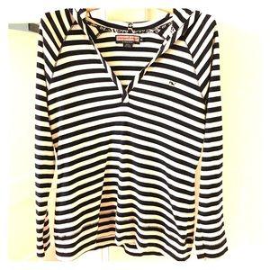 Vineyard Vines Navy & White Striped L/S Shirt