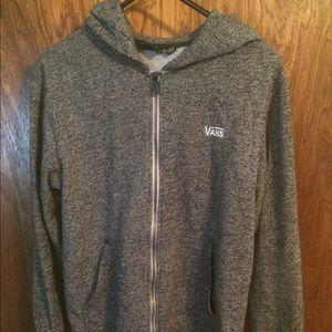 VANS Grey Zip-Up Hoodie