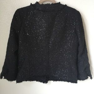 MICHAEL Michael Kors Jackets & Coats - Michael Kors Sequin Tweed Above Hip Blazer