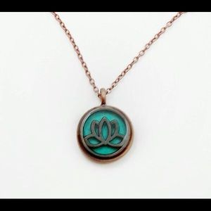 Jewelry - Copper Lotus Flower Necklace
