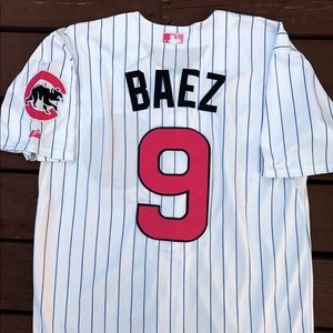 hot sale online 0f0b1 88a2b Javier Baez Chicago Cubs Mother's Day Jersey (L) NWT