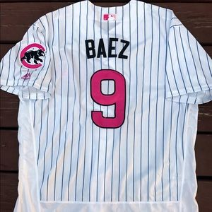 promo code 7ecaa 1e8d6 Javier Baez Mother's Day Chicago Cubs jersey (XL) NWT