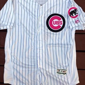 promo code ad182 5c795 Javier Baez Mother's Day Chicago Cubs jersey (XL) NWT