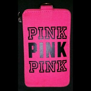 ❌ SOLD ❌ PINK card holder and lanyard