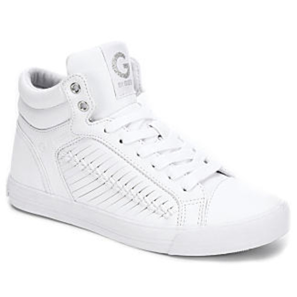 Guess Olisa White High Top Sneakers Sz