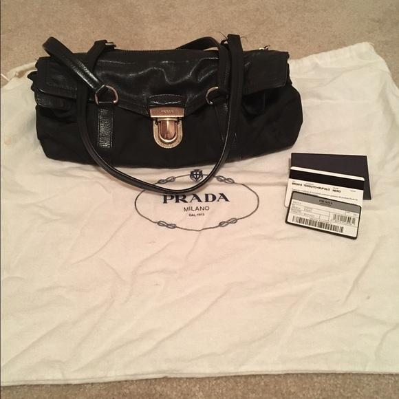 Prada Bags   Authentic Buffalo Tessuto Pushlock Bag   Poshmark da9d0ddfaa