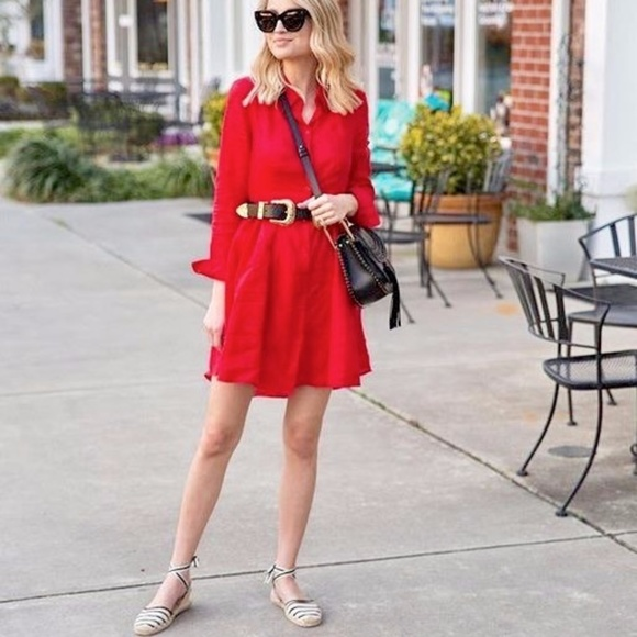 Banana Republic Dresses & Skirts - Red Shirt Dress