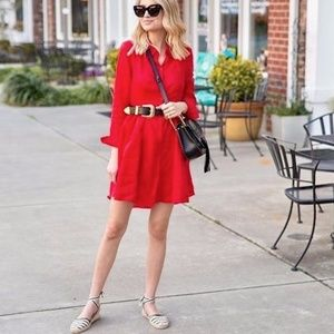 Banana Republic Dresses - Red Shirt Dress