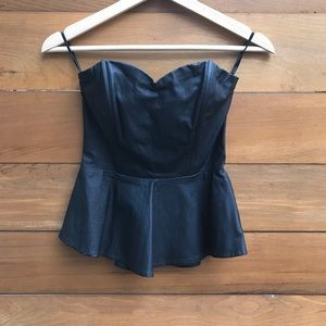 Forever 21 coated corset