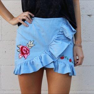 Dresses & Skirts - RESTOCKED rose patch skirt