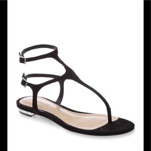 Shutz Galey sandal in black nubuck