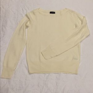 The Limited White XS Crew Neck Sweater
